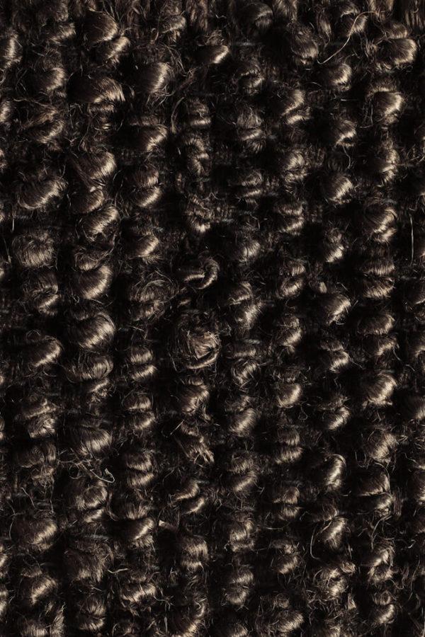 Black Loop Hemp Rug closeup