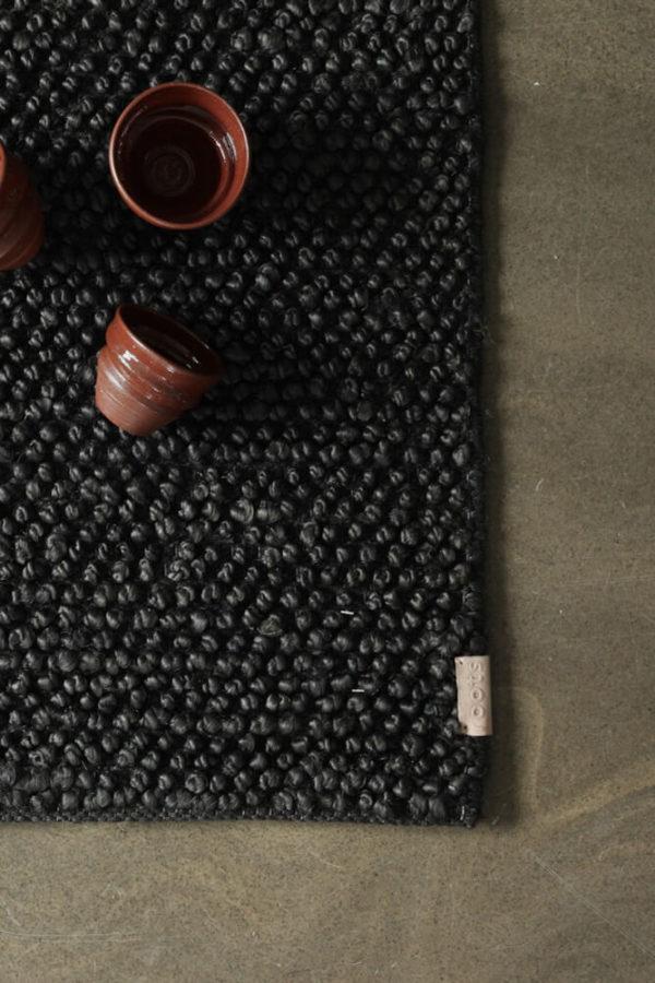 Black Loop Hemp Rug interior