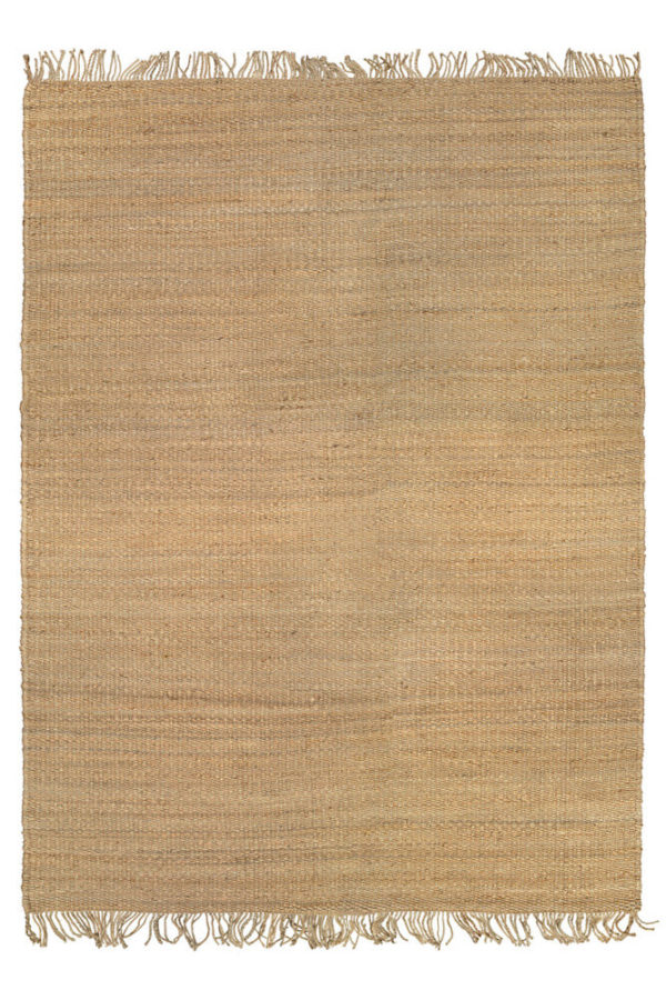 Natural Fringe Hemp Rug