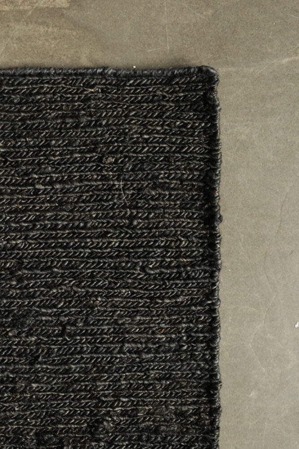 Black Braid Hemp Rug interior