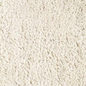 White Pile Linen Rug closeup