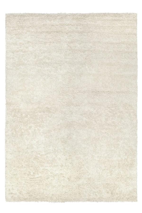 White Long Pile Linen Rug
