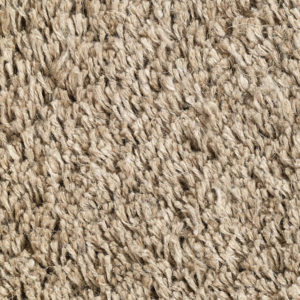 Natural Long Pile Linen Rug closeup