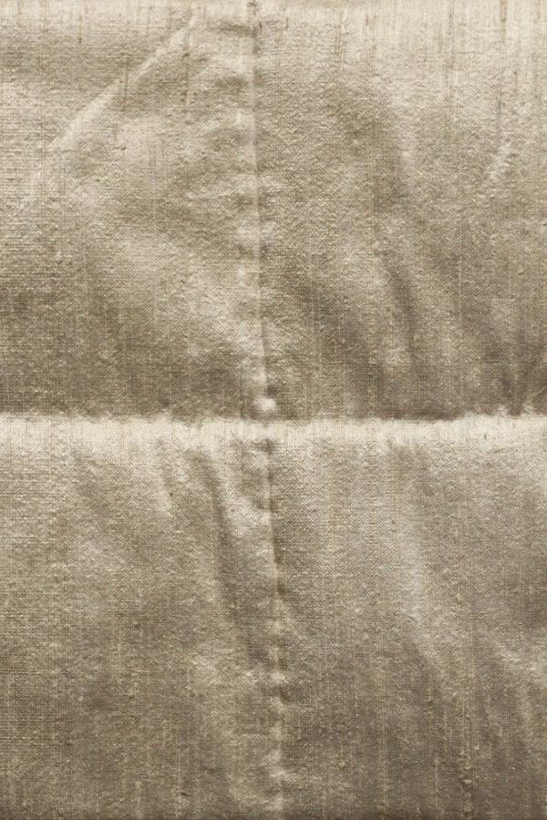 Gold Silk Square Bedspread closeup