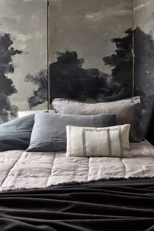 Silver Silk Square Bedspread interior