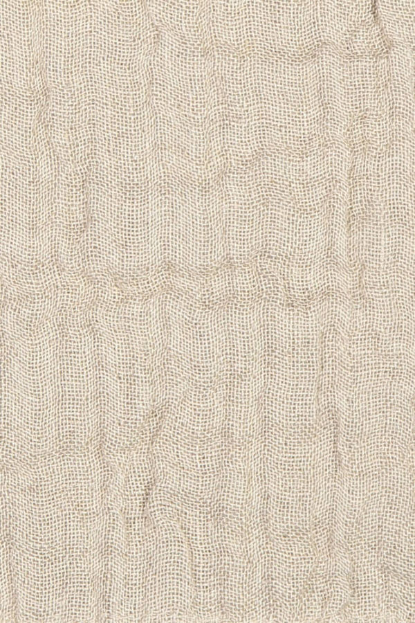 Natural Linen Throw closeup