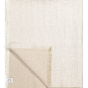 White Fishbone Linen Throw