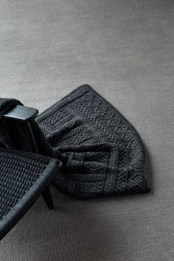 Black Knitted Wool interior