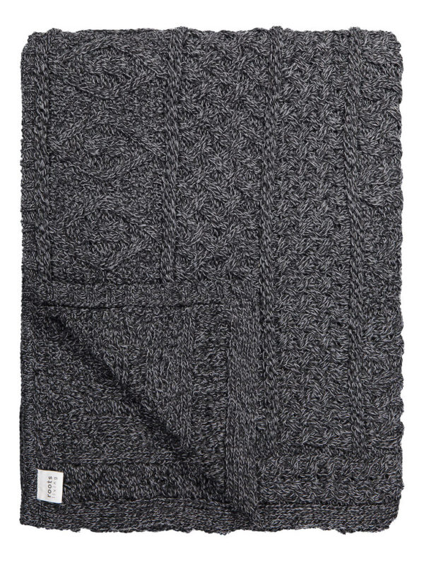 Charcoal Knitted Wool Throw